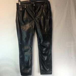 Express Faux Leather Columnist Pant NWT